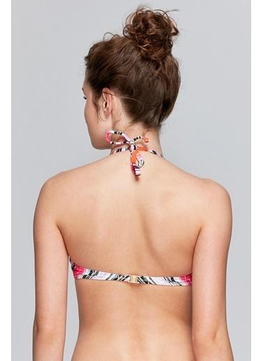 Reflections Mix Match Çıkarılabilir Askılı Straplez Desenli Bikini Üst Renkli